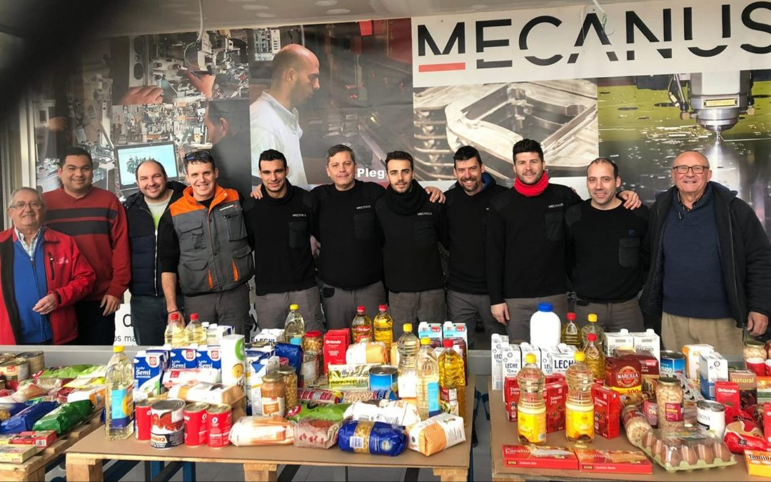 Mecanus realiza recolecta de alimentos para donar a Caritas