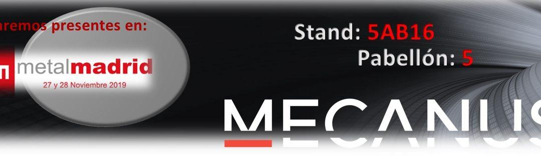 Mecanus del 27 y 28 de noviembre en MetalMadrid19